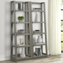 View Product - PURE MODERN Pair of Angled Etagere Bookcase Piers