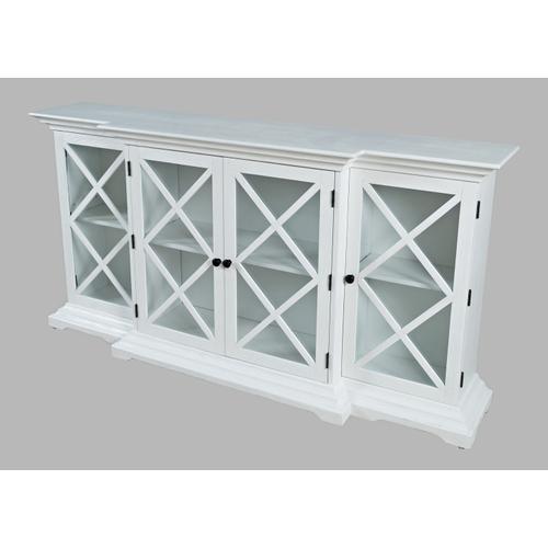 Jofran - Carrington Large Breakfront Cabinet - White