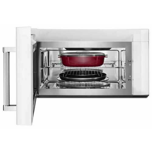"""KitchenAid - 30"""" 1000-Watt Microwave Hood Combination with Convection Cooking - White"""