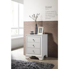 WHITE NIGHTSTAND W/THERE DRWS