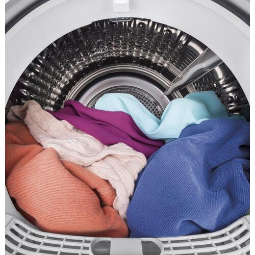 "GE® 24"" 4.3 Cu.Ft. Front Load Vented Electric Dryer with Stainless Steel Basket"