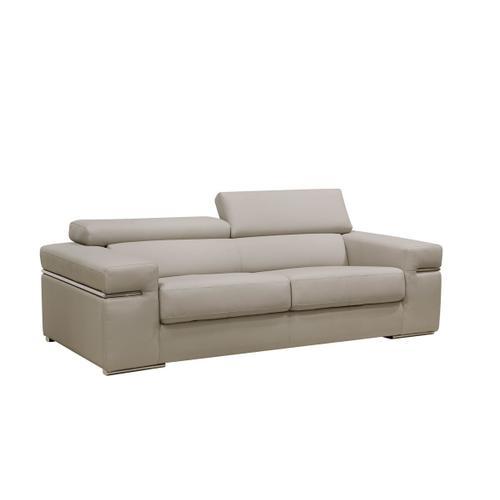 VIG Furniture - Divani Casa Atlantis Modern Light Grey Bonded Leather Sofa Set