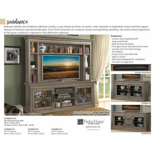 Parker House - SUNDANCE - SANDSTONE Hutch Back Panel