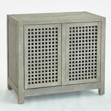 See Details - Driftwood Lattice Two-Door Cabinet-Grey