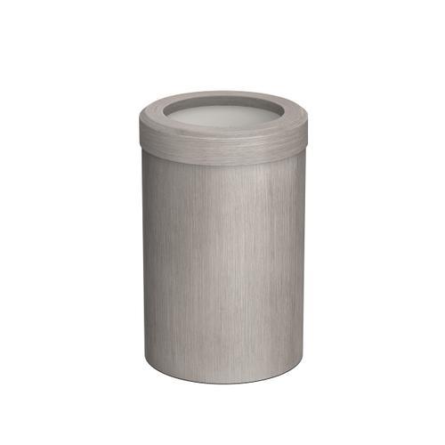 Round Modern Waste Basket in Satin Nickel