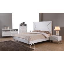 See Details - Modrest Candid Modern White Bedroom Set