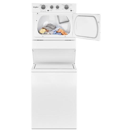 Whirlpool Canada - 4.0 cu.ft I.E.C. Electric Stacked Laundry Center 9 Wash cycles and AutoDry™