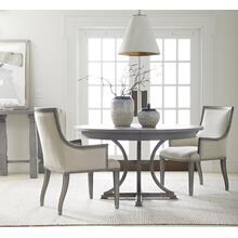 "Willow 54"" Round Dining Table - Pewter"