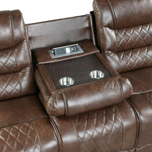 Gallery - Power Double Reclining Sofa with Drop-Down Cup Holders, Receptacles and USB ports