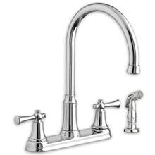See Details - Portsmouth 2-Handle 1.5 GPM High-Arc Kitchen Faucet with Side Spray  American Standard - Polished Chrome