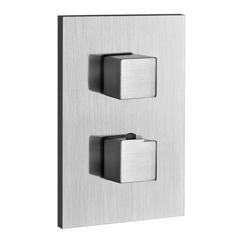 """Gessi - TRIM PARTS ONLY External parts for thermostatic with single volume control Single backplate 1/2"""" connections Vertical applica tion Anti-scalding Requires in-wall rough valve 09279"""