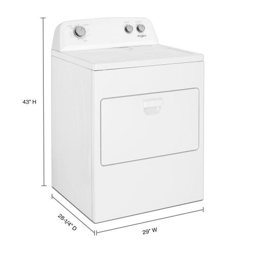 Whirlpool - 7.0 cu. ft. Top Load Gas Dryer with AutoDry™ Drying System