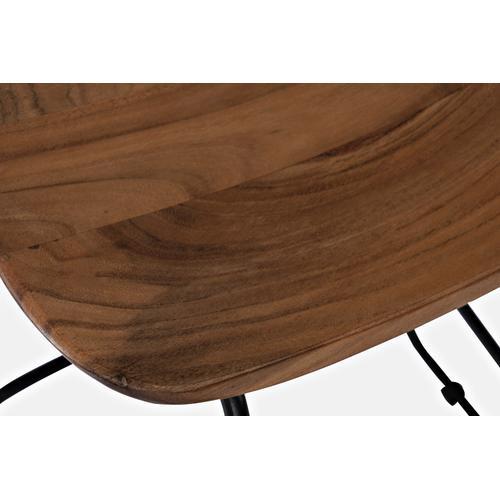 Nature's Edge Backless Stool(2/ctn) - L. Chestnut