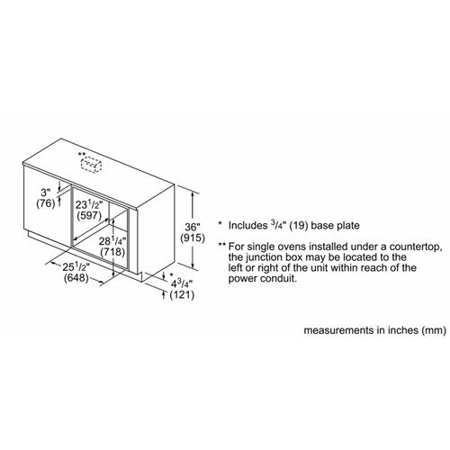 "Bosch - 500 Series, 27"", Single Wall Oven, SS, EU Convection, Knob Control"