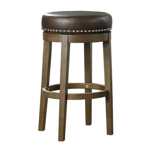 Gallery - Round Swivel Pub Height Stool, Brown
