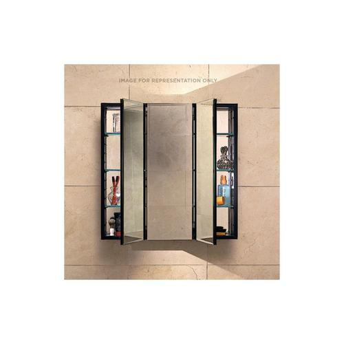 """Pl Series 30"""" X 30"""" X 4"""" Three Door Cabinet With Bevel Edge, Black Interior and Electric"""