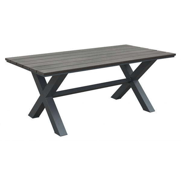 Bodega Dining Table Gray & Brown