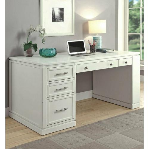 See Details - CATALINA Two piece 60 in. Writing Desk with PWR Ctr and USB