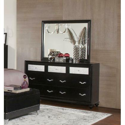 See Details - Barzini Seven-drawer Dresser With Metallic Drawer Front