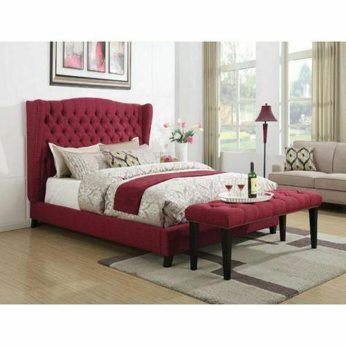 ACME Faye Queen Bed - 20890Q - Red Linen