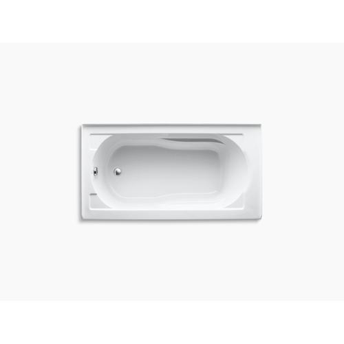 "White 60"" X 32"" Alcove Bath With Integral Apron, Integral Flange and Left-hand Drain"