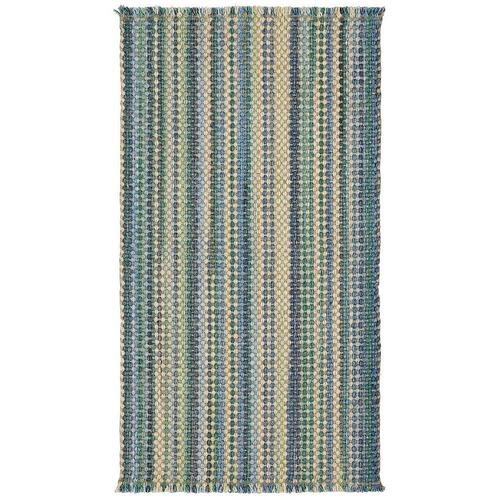 "Hampton Seaglass Blue - Vertical Stripe Rectangle - 24"" x 36"""