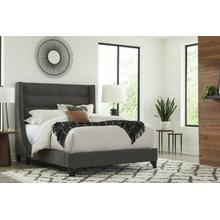 JACOB - LUXE DARK GREY Queen Bed 5/0