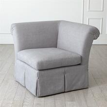Slipper Chair Section-Heather Grey-1 pc
