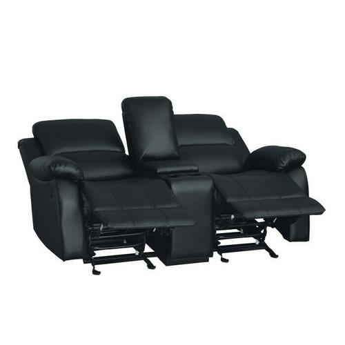 Homelegance - Double Glider Reclining Love Seat with Center Console