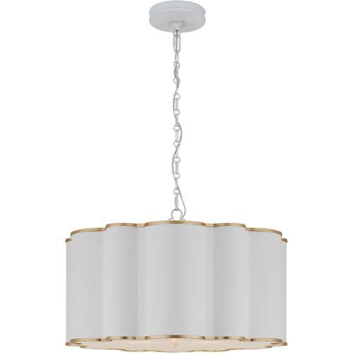 Alexa Hampton Markos 4 Light 26 inch White with Gild Pendant Ceiling Light, Large