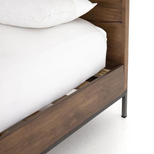 King Size Auburn Poplar Cover Trey Bed