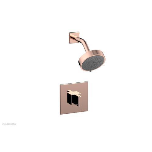 MIX Pressure Balance Shower Set - Blade Handle 290-21 - Polished Copper