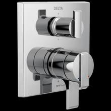 Chrome Angular Modern Monitor ® 17 Series Valve Trim with 6-Setting Integrated Diverter