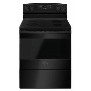 30-inch Electric Range with Extra-Large Oven Window - Black Product Image