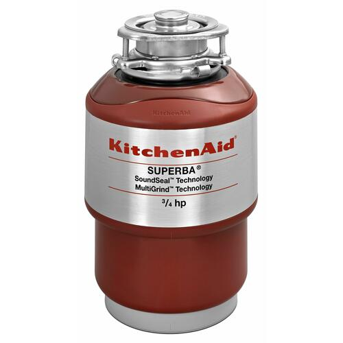 KitchenAid - 3/4-Horsepower Continuous Feed Food Waste Disposer - Red