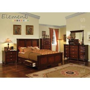 Hamilton Queen Bed with Drawer Rails