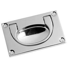 "See Details - Chrome Plate Flush handle, 3 1/8"" x 1 7/8"""