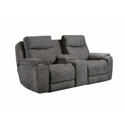 Power Headrest Loveseat with Console & Hidden Cupholders