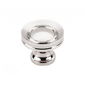Button Faced Knob 1 1/4 Inch - Polished Nickel Product Image