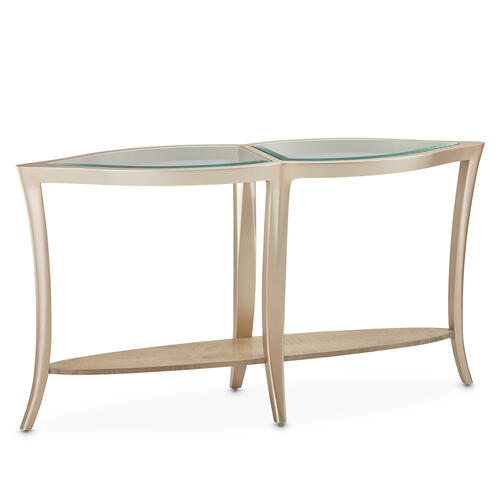 Console Table W/glass Chardonnay