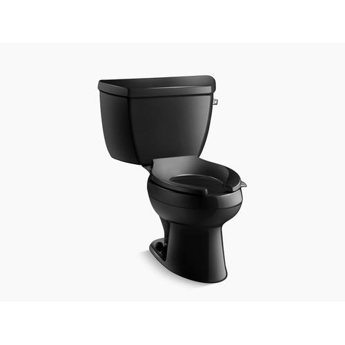 Kohler - Black Black Two-piece Elongated 1.6 Gpf Toilet With Right-hand Trip Lever, Less Seat