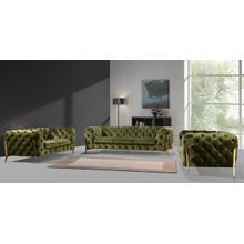 Divani Casa Sheila Modern Green Fabric Sofa Set