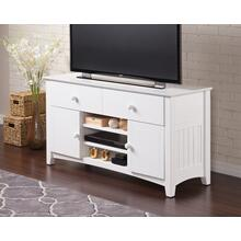 See Details - Nantucket 2 Drawer 50 inch Entertainment Console 26x50 with Adjustable Shelves in White