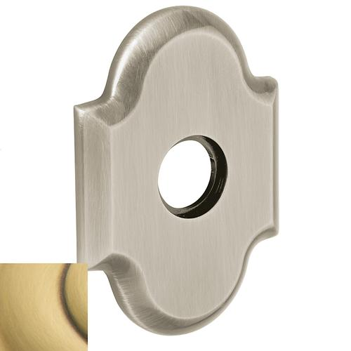 Baldwin - Satin Brass and Brown R030 Arch Rose