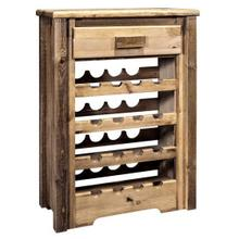 Homestead Collection Wine Cabinet, Stain and Lacquer Finish