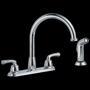 Two Handle Kitchen Faucet with spray Product Image