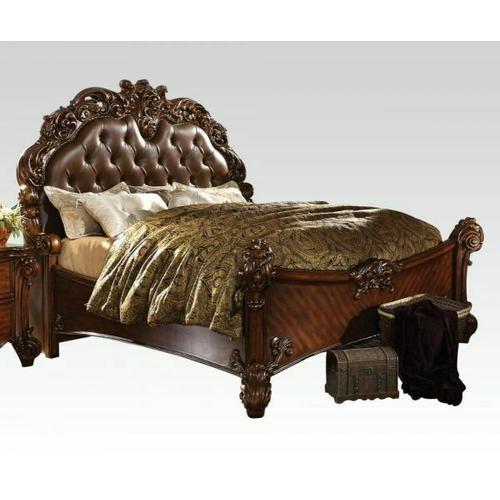 ACME Vendome California King Bed - 21994CK_KIT - Cherry PU