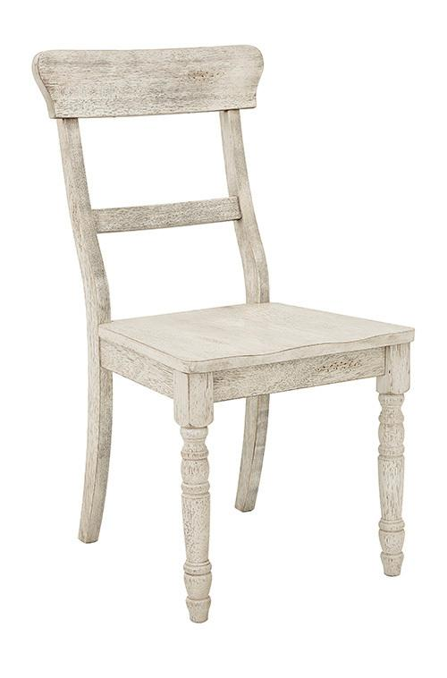 Dining Chair- 2/CTN- Antique White - Antique White Finish