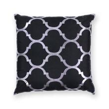 "L300 Black Trellis Pillow 18"" X 18"""