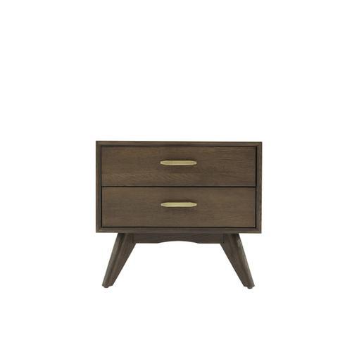 VIG Furniture - Modrest Novak Modern Dark Oak Nightstand